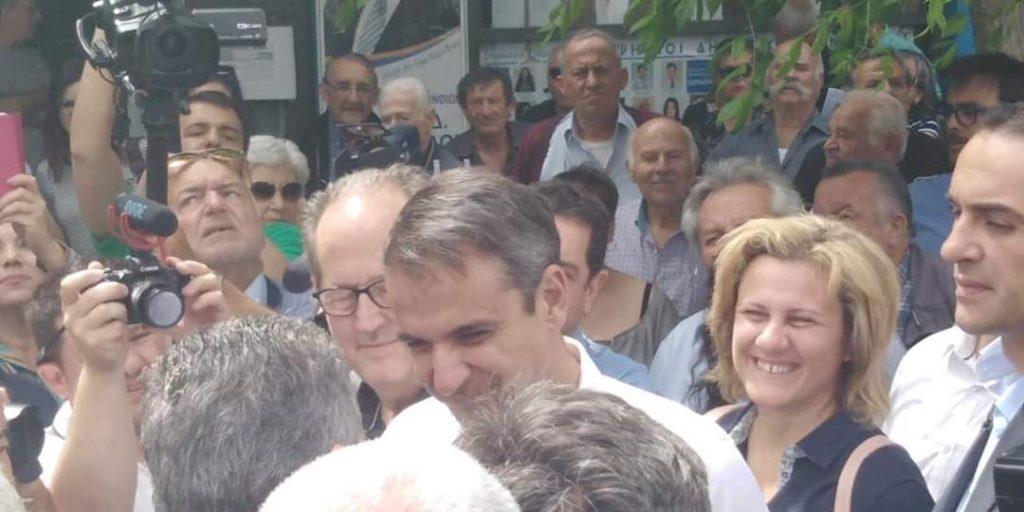 Επίσκεψη Κυριάκου Μητσοτάκη 31/5/2019 στη Κόρινθο εν όψει της 2ης Κυριακής των Αυτοδιοικητικών εκλογών