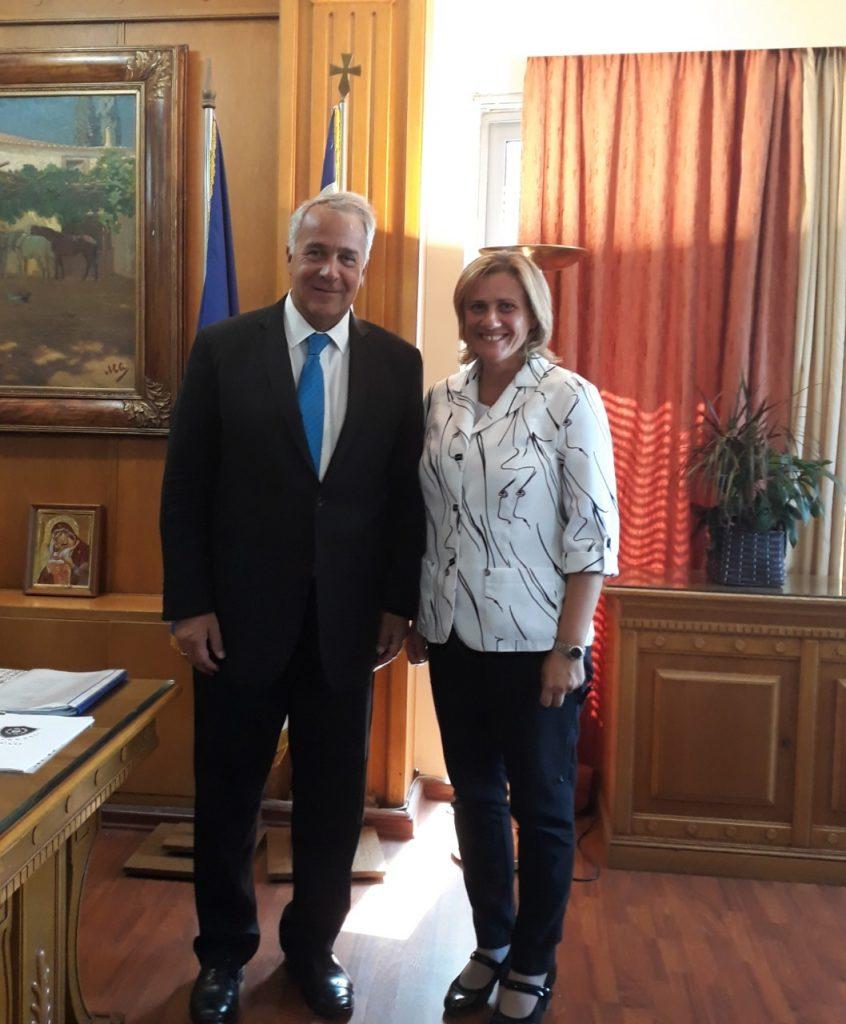 Συνάντηση με τον υπουργό Αγροτικής Ανάπτυξης και Τροφίμων